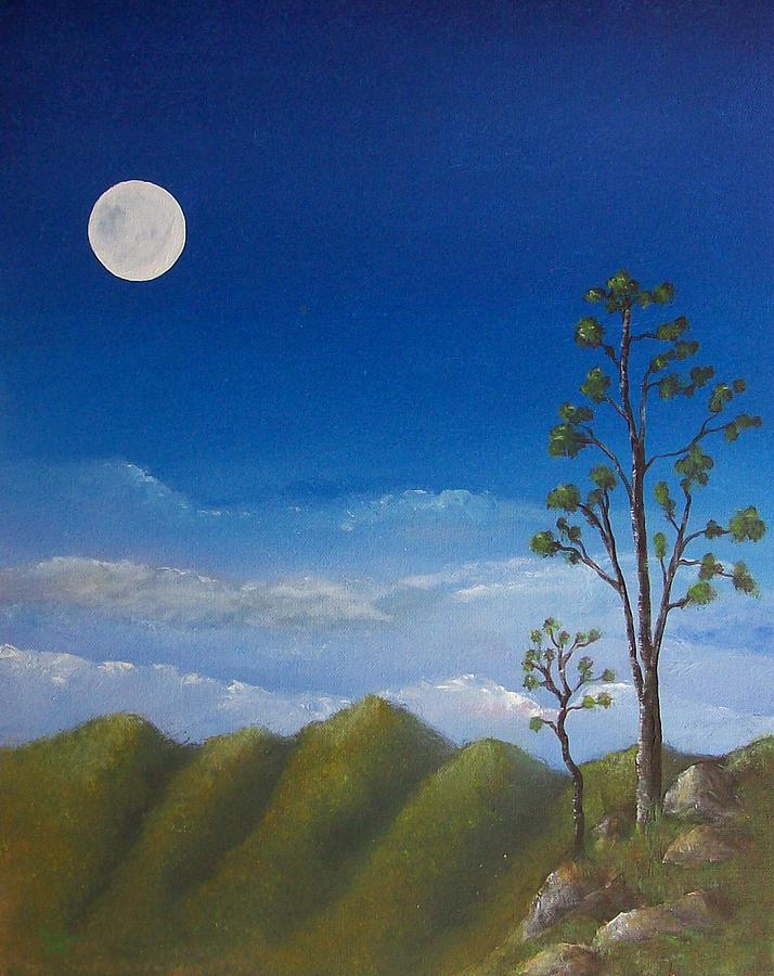 Landscape Painting - Full Moon by Tony Rodriguez