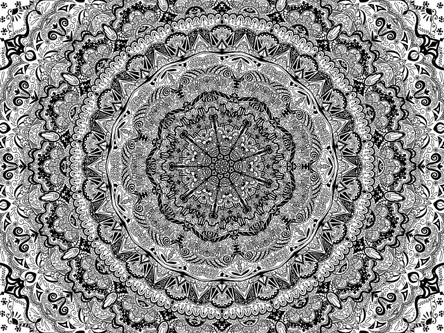 Full Page Mandala Digital Art By Ester Memoli