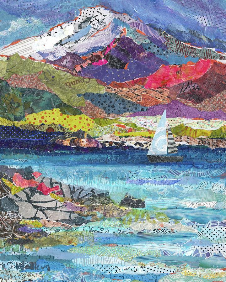 Sail Boat Painting - Full Sail by Shelli Walters