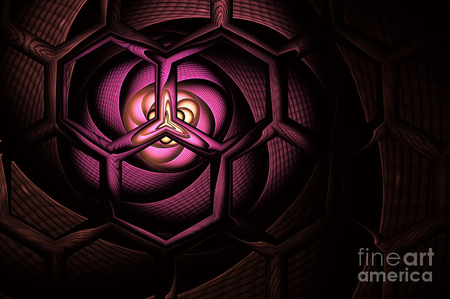 Molecule Digital Art - Fullerene by John Edwards