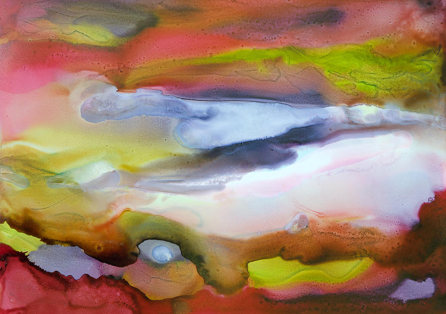 Abstract Painting - Fully Alive - C by Sandy Sandy