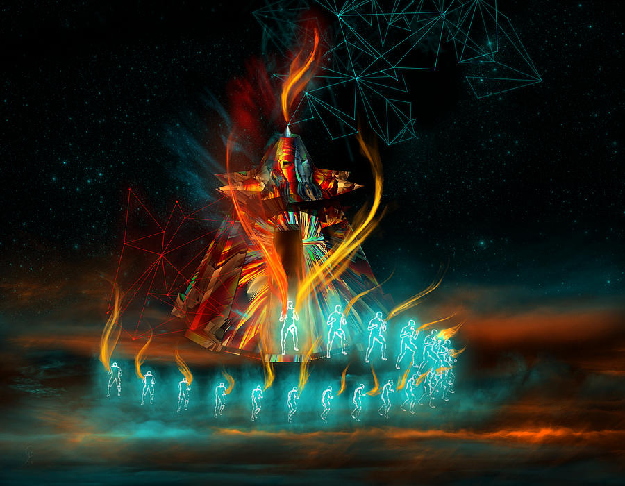Tipi Digital Art - Fully Charged by Carmen Hathaway