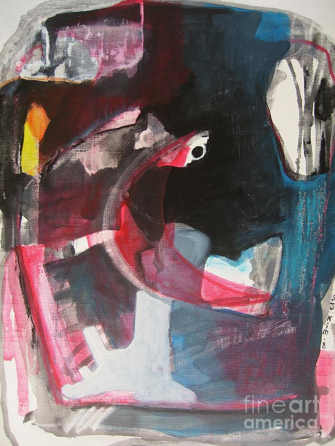 Acrylic Paintings Painting - Fumbling With Memory by Seon-Jeong Kim