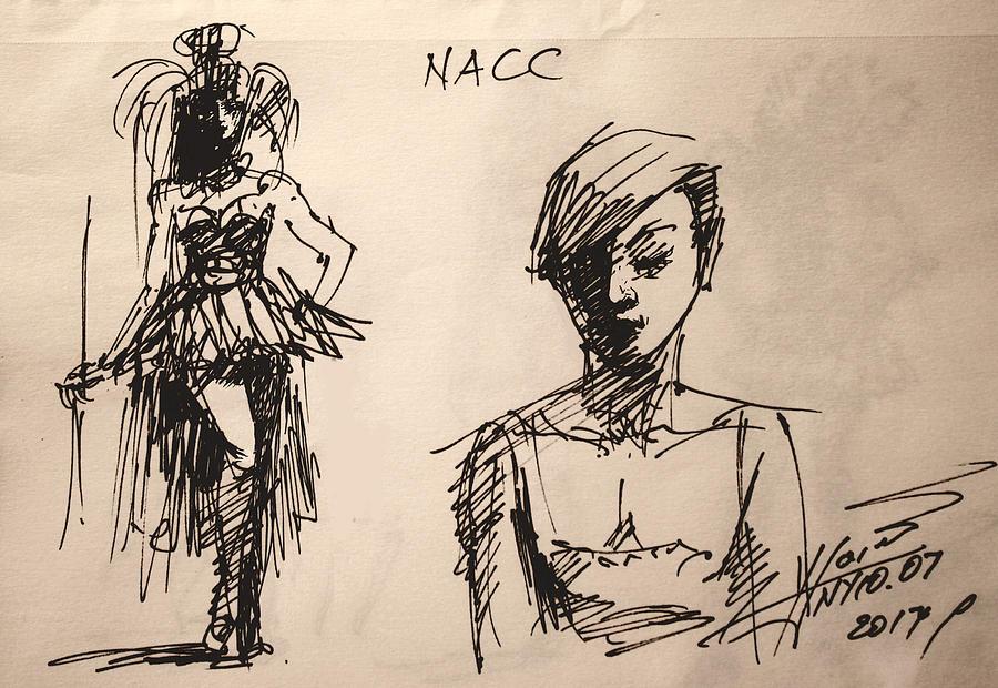 Fun Drawing - Fun At Art Of Fashion At Nacc 1 by Ylli Haruni