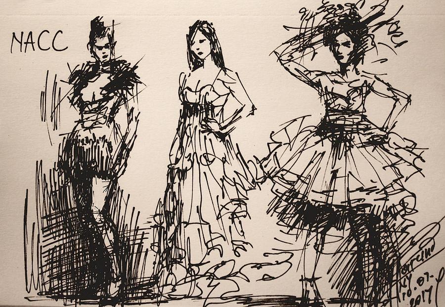 Fun Drawing - Fun at Art of Fashion at NACC 3 by Ylli Haruni