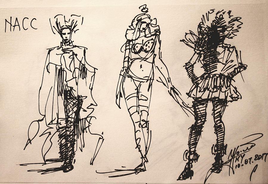 Fun Drawing - Fun at Art of Fashion at NACC by Ylli Haruni