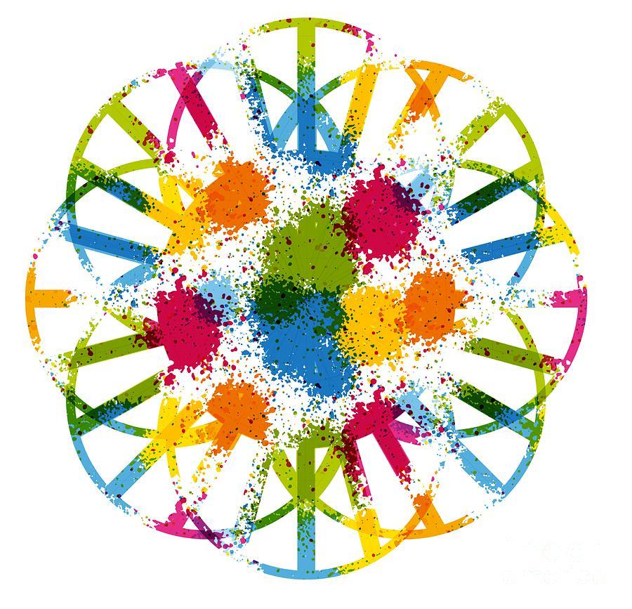 FUN FLOWER - Abstract Art Print - Fantasy - Digital Art - Fine Art Print - Flower Print by Ron Labryzz