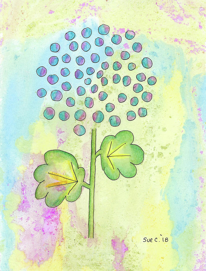Watercolor Painting - Fun Flower by Susan Campbell