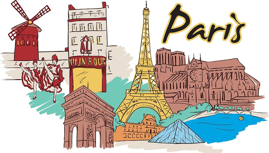 Texas Digital Art - Fun Food And Folly In Paris by Stanley Mathis