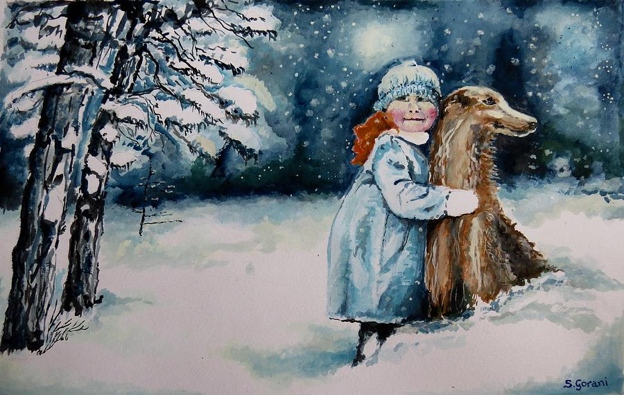Painting Painting - Fun In The Snow by Geni Gorani