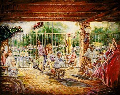 Mcdonalds Painting - Fun Land by Charles Simms