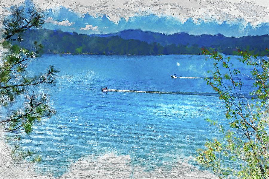 Coeur D'alene Digital Art - Fun On Lake Coeur Dalene by Matthew Nelson