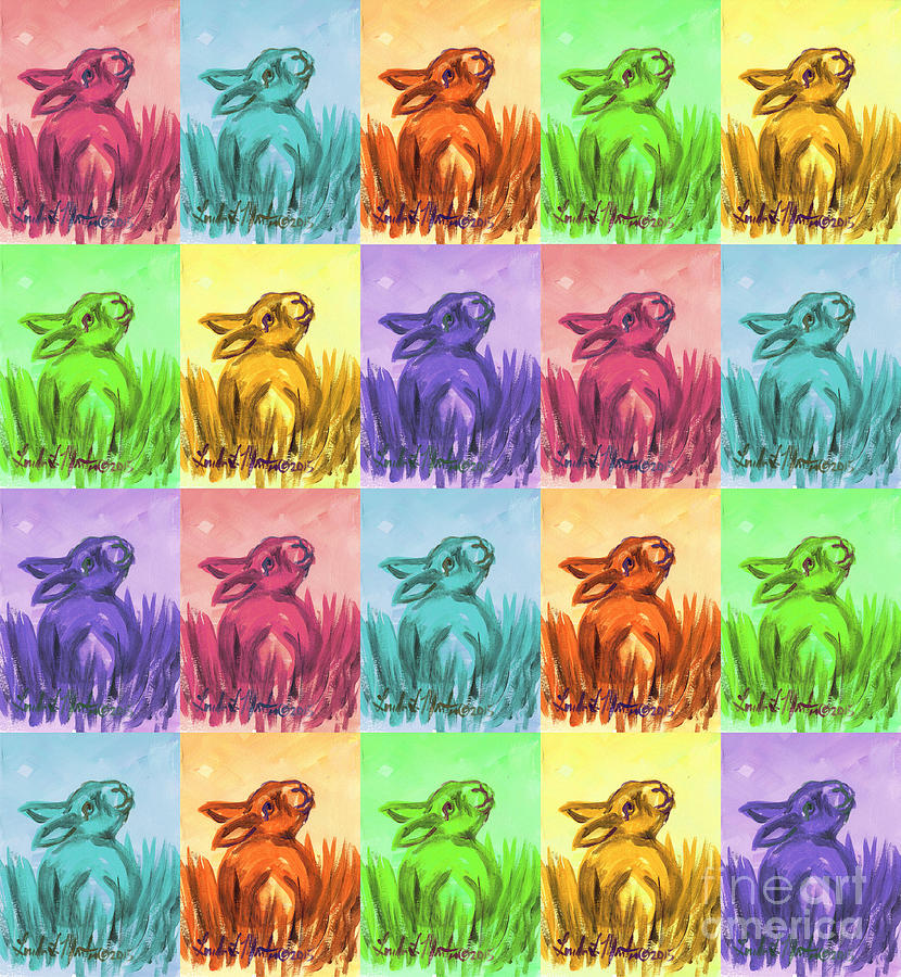 Fun Spring Bunnies by Linda L Martin