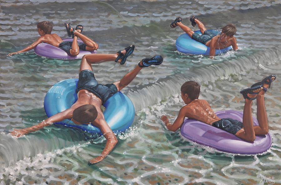 Fun Time Painting by Gary M Long