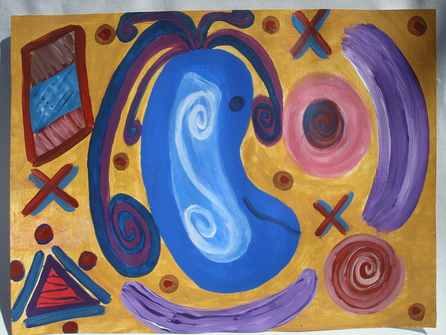Abstract Painting - Fun Time by Gypsie Moe