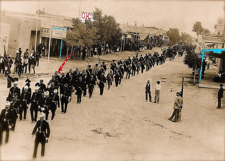 Funeral procession Allen Street Tombstone Arizona c.1890s-2015 Photograph by David Lee Guss