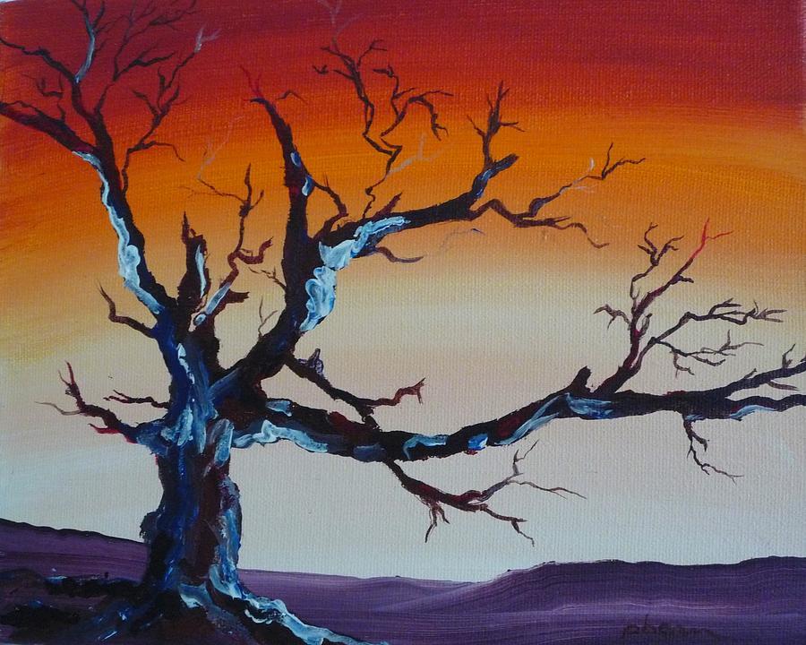 Tree Painting - Fungus Tree by Patti Bean