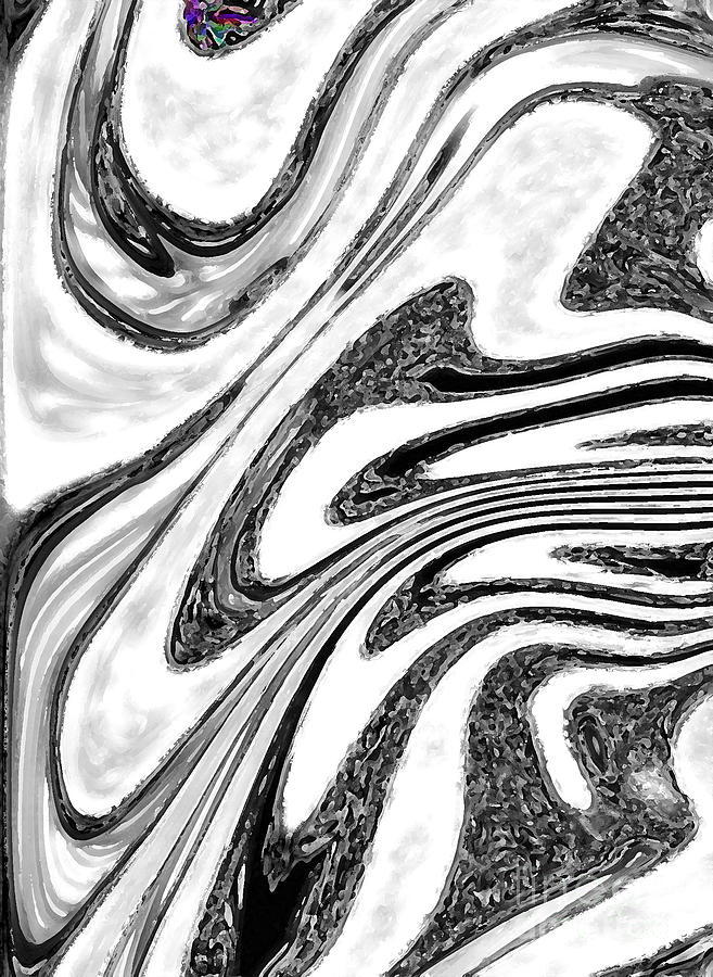 Funky Black White Colour Art Abstract