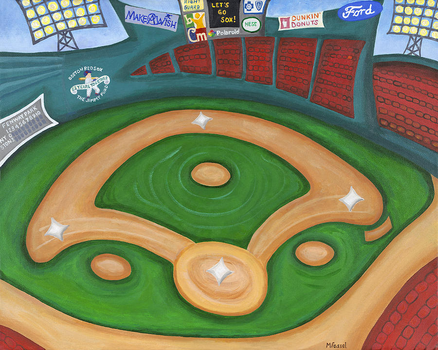 Fenway Park Painting - Funky Fenway by Melissa Fassel Dunn