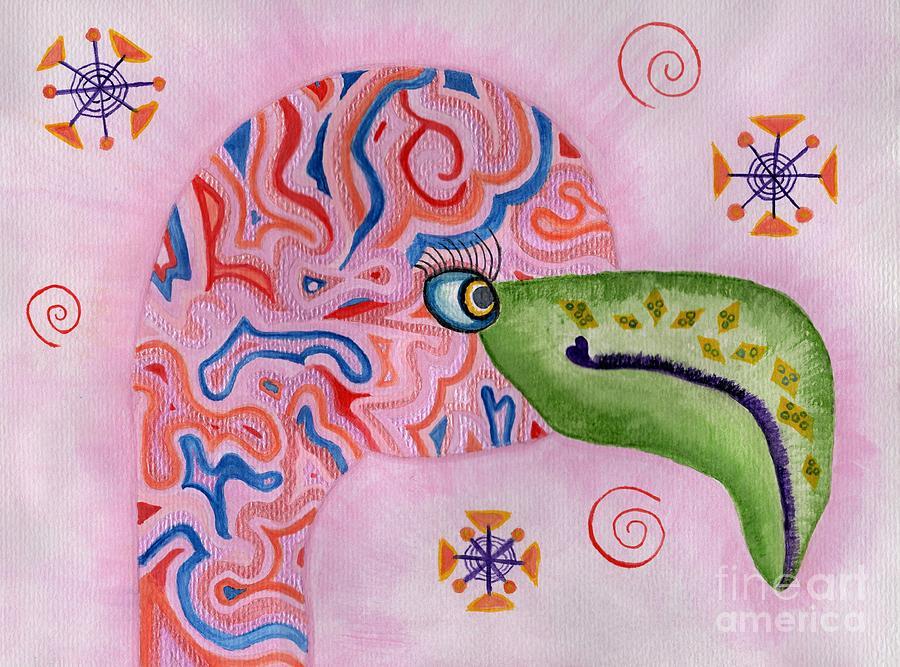 Funky Flamingo by Anne Clark
