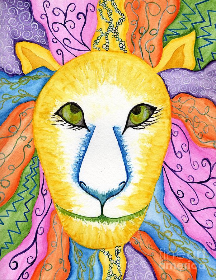 Funky Lion by Anne Clark