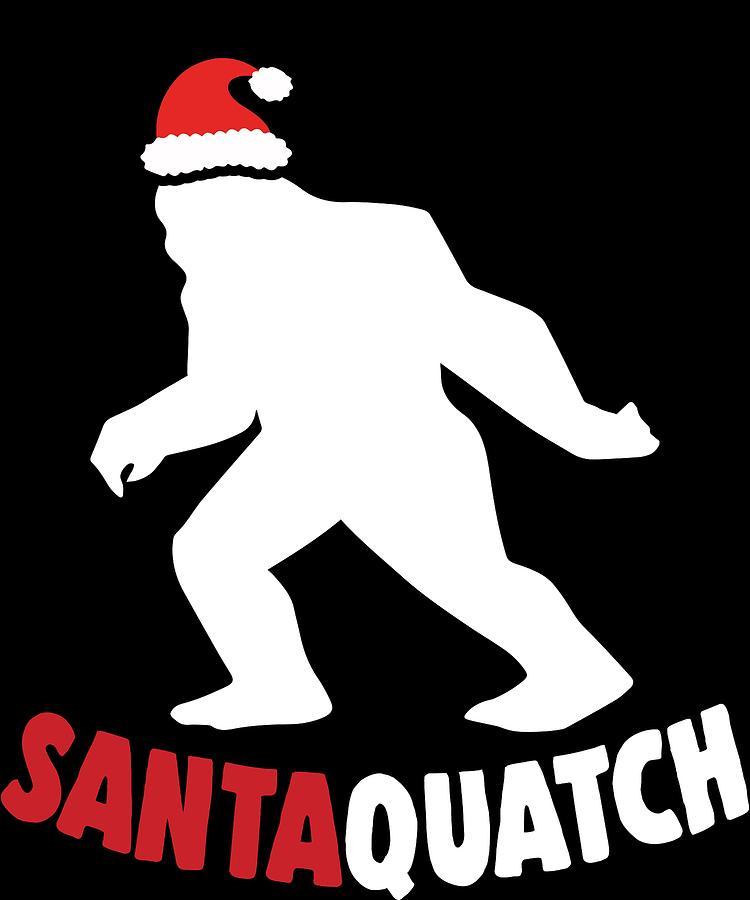 Funny Christmas Santa Bigfoot Sasquatch Xmas Apparel