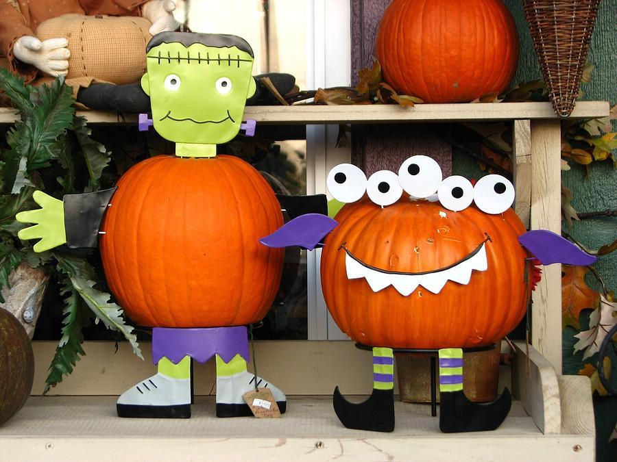 Funny Pumpkins Photograph By Beth Tidd