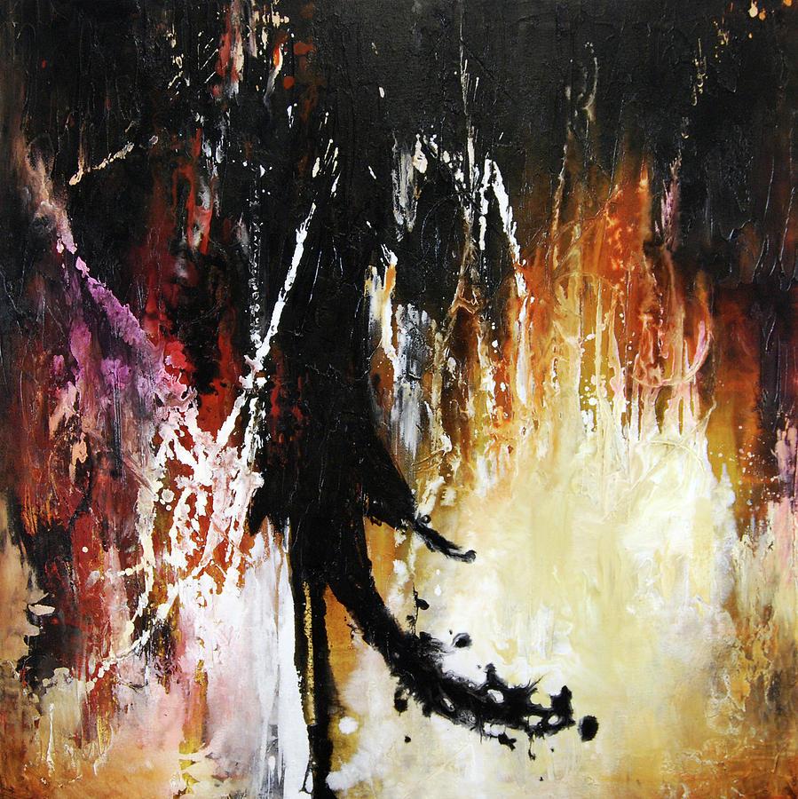Abstract Painting - Furnace by Dion Kurczek