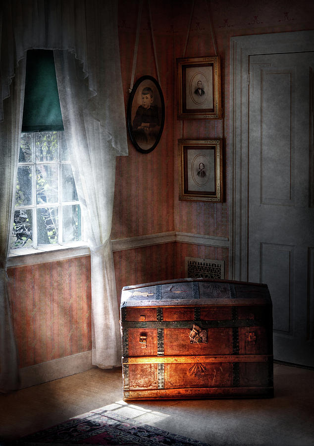 Hdr Photograph - Furniture - Bedroom - Family Secrets by Mike Savad