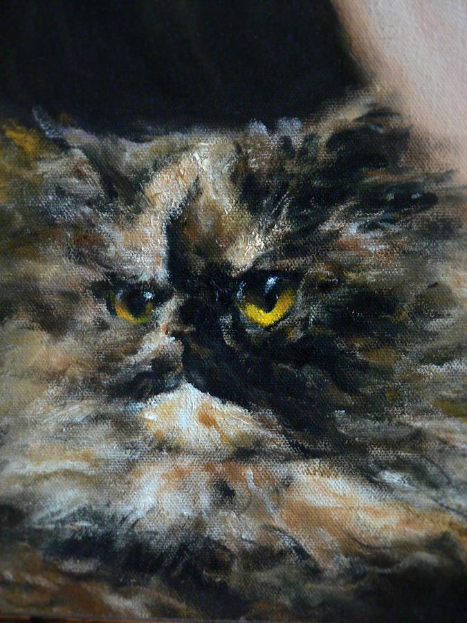 Cat Painting - Furry by Valeriy Mavlo