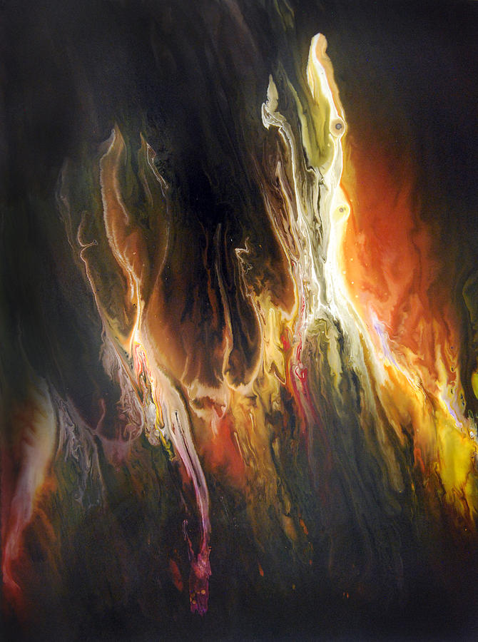 Abstract Painting - Fury by Dion Kurczek