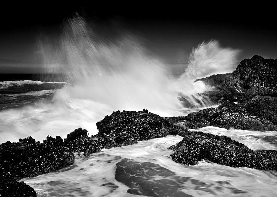 Waves Photograph - Fury by Mike  Dawson