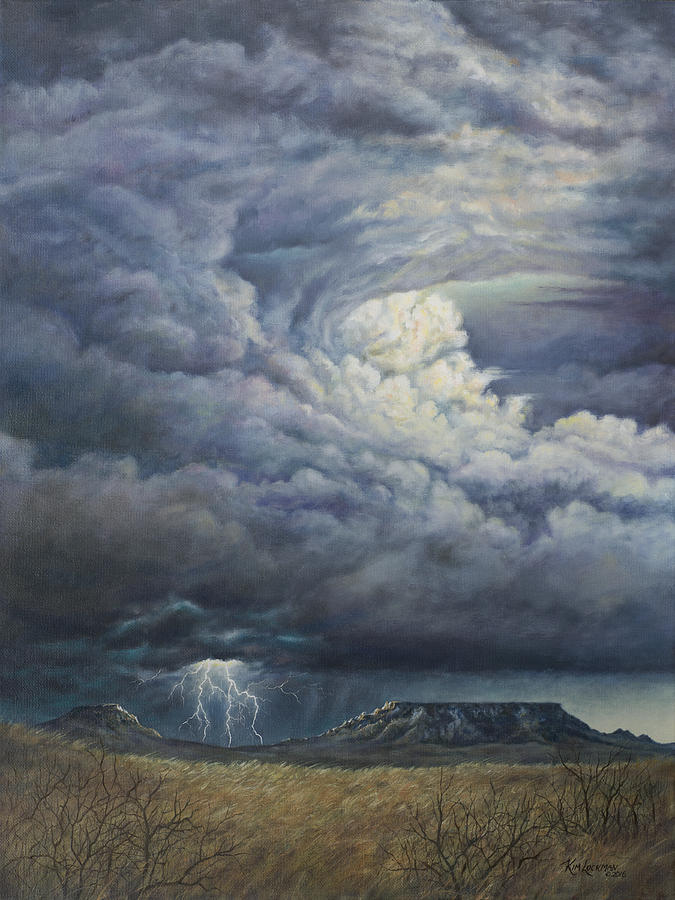 Fury Over Square Butte by Kim Lockman