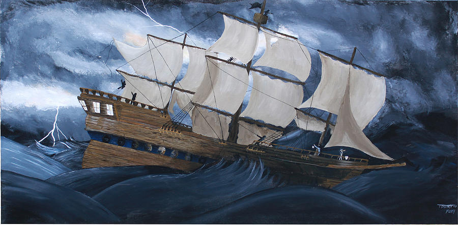 Ship Painting - Fury by Tammy Dunn