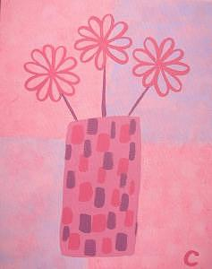 Pink Flowers Painting - Fuschia Flowers by Christina Wilson