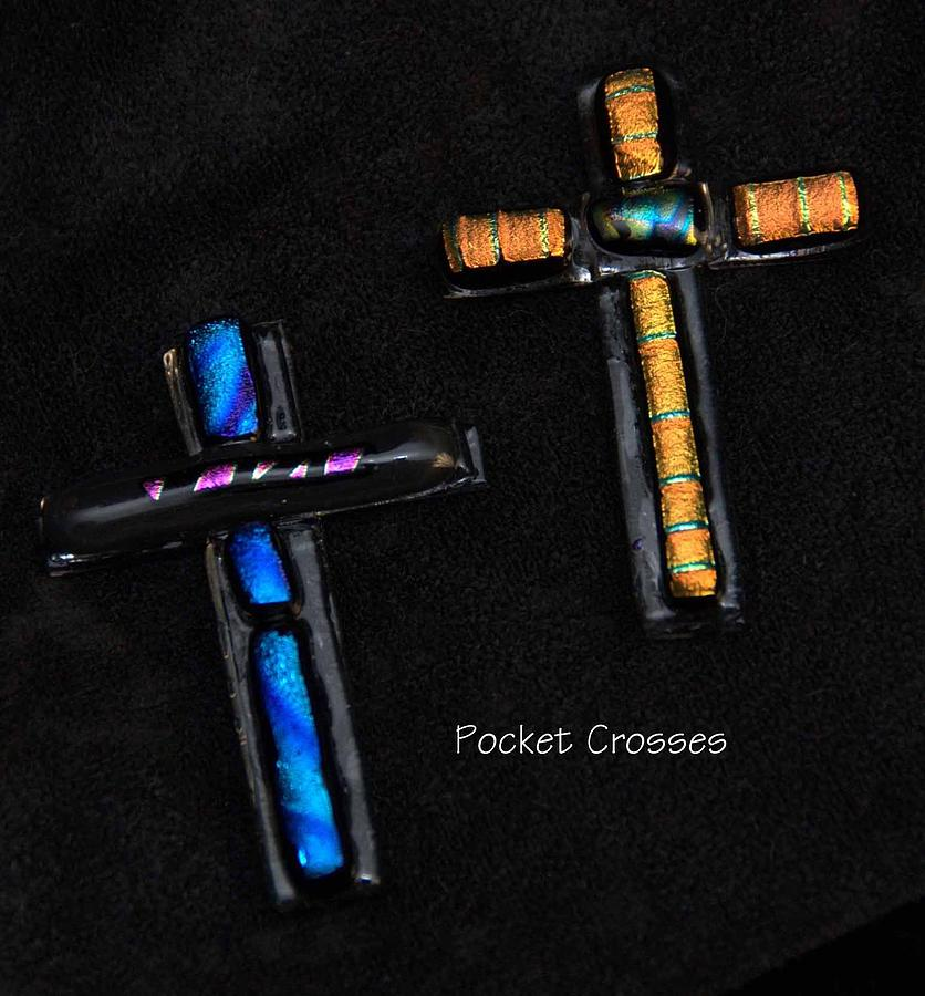Fused Glass Crosses Glass Art by Michelle Lake