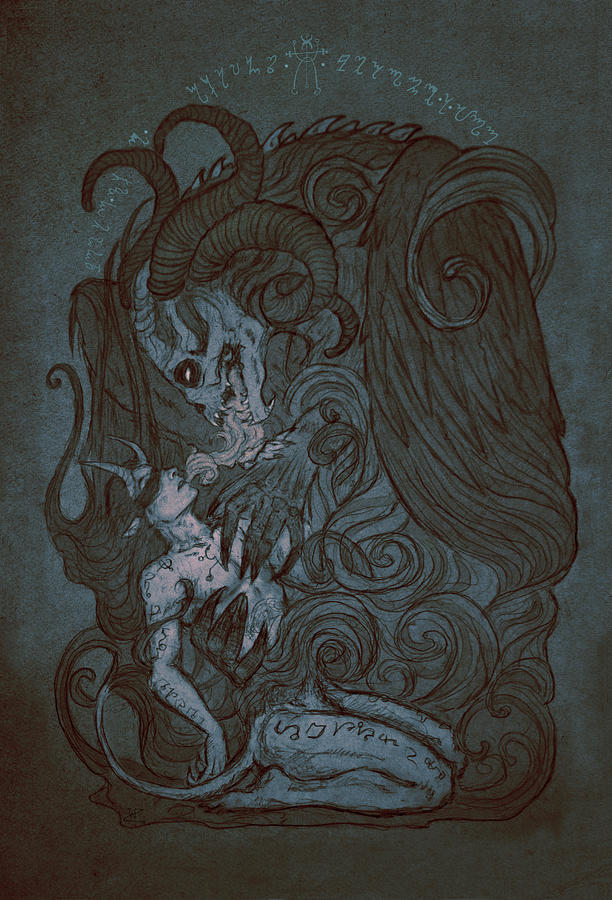 Demon Mixed Media - Fusion by Cambion Art