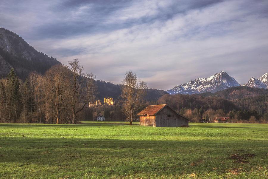 Bavaria Photograph - Fussen Mountain Scene by Chris Fletcher