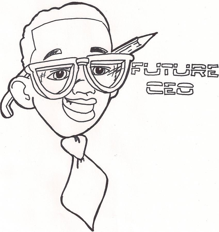 Logo Drawing - Future Ceo3 by Desmond  Haynes