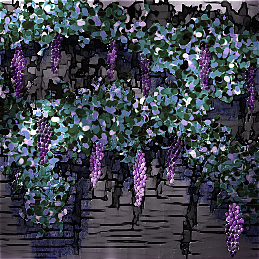 Future Grape Wine Digital Art