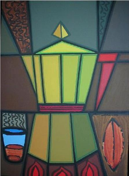Futurist Painting - Futurist Coffeepot by Jose Miguel Perez Hernandez