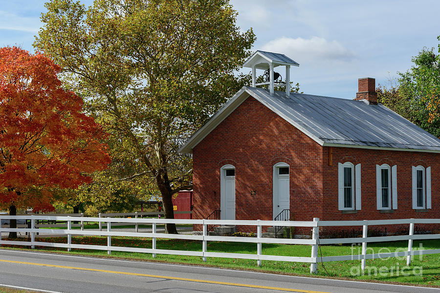 FX17E Little Red Schoolhouse by Ohio Stock Photography
