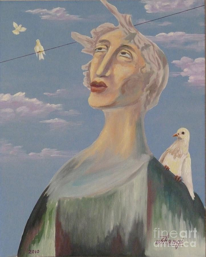 Portrait Painting - Fyodor by Ushangi Kumelashvili