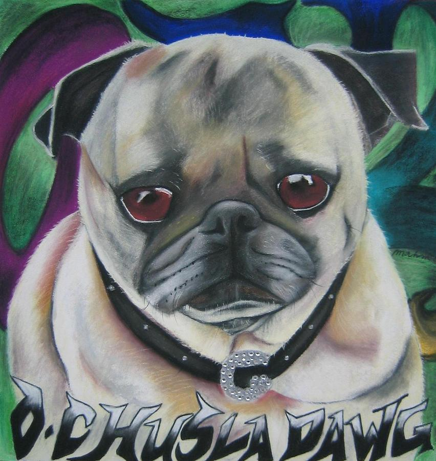 Dog Portrait Painting - G Dawg by Michelle Hayden-Marsan