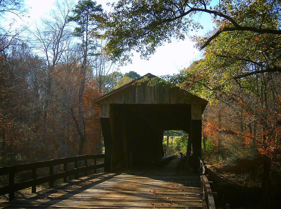 Bridges Photograph - Ga. Covered Bridge by Navarre Photos