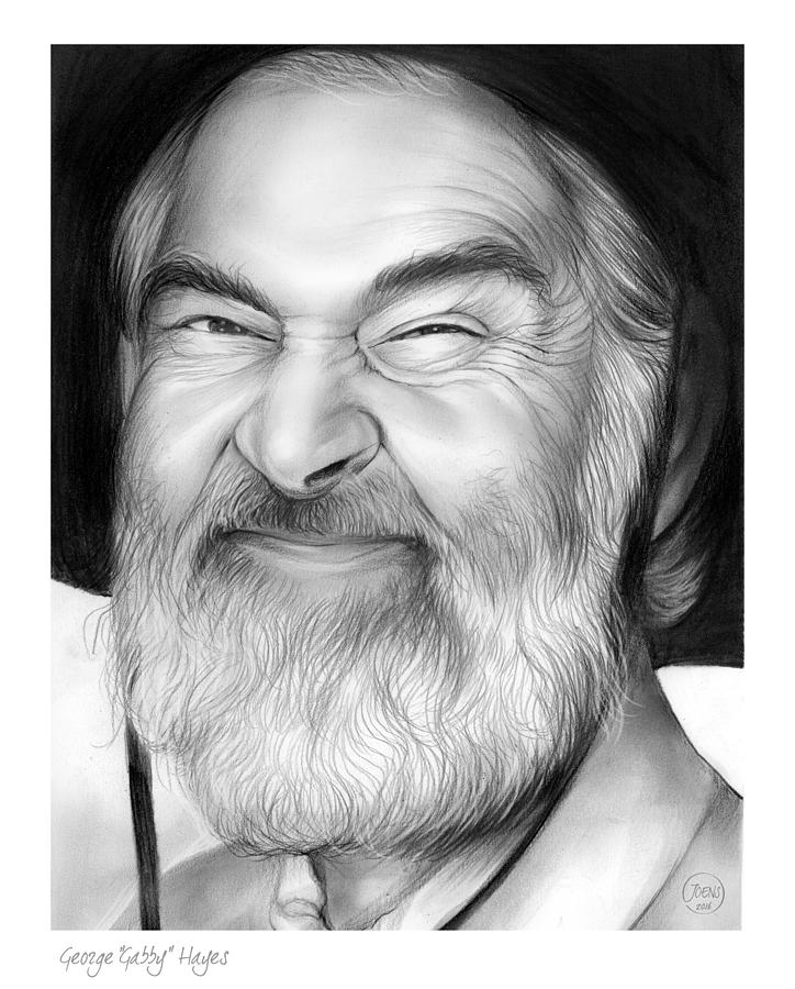 Gabby Hayes Drawing - Gabby Hayes by Greg Joens
