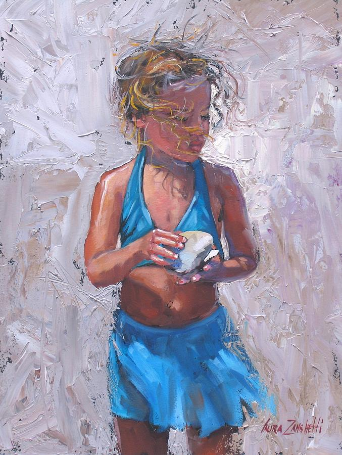 Young Girl Painting - Gabby by Laura Lee Zanghetti
