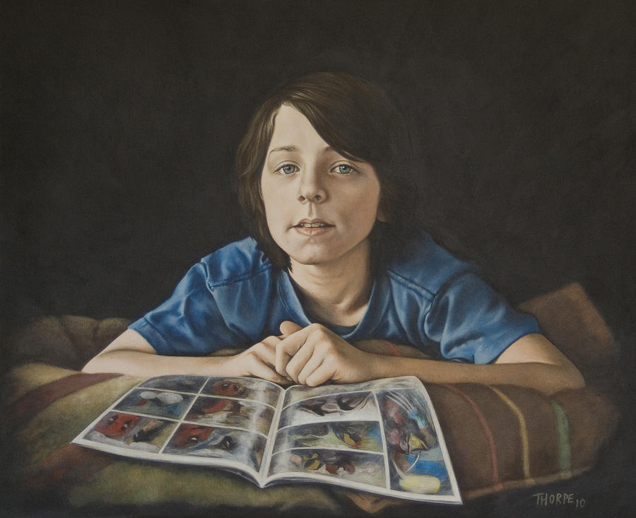 Portrait Painting - Gabe by Tim Thorpe