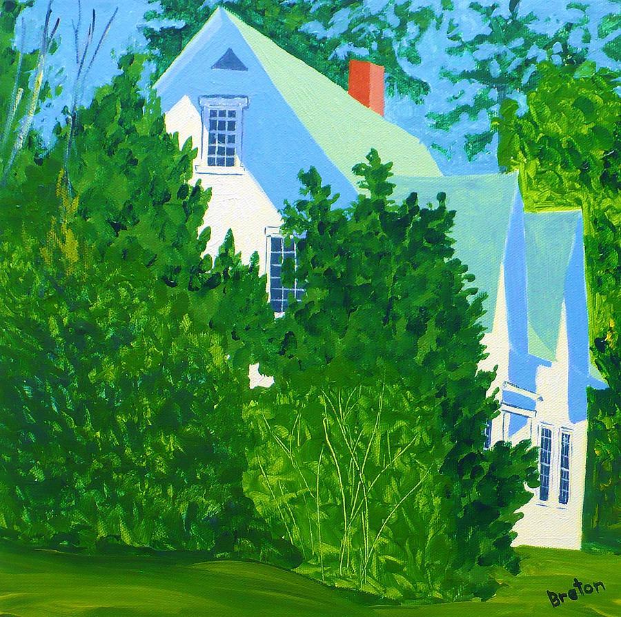 Landscape Painting - Gables by Laurie Breton