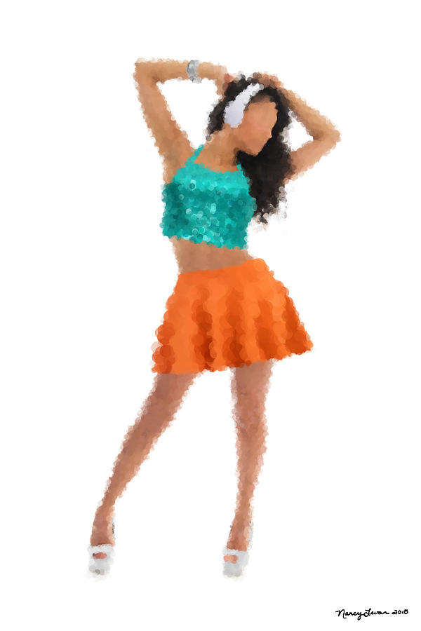 Dance Digital Art - Gaby by Nancy Levan